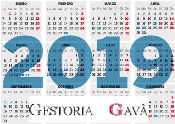 Calendario Laboral De Cataluna.Festivos Del Calendario Laboral Cataluna Para El Ano 2019